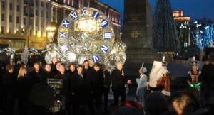 Michèle Wagner à Moscou au marché de Noël